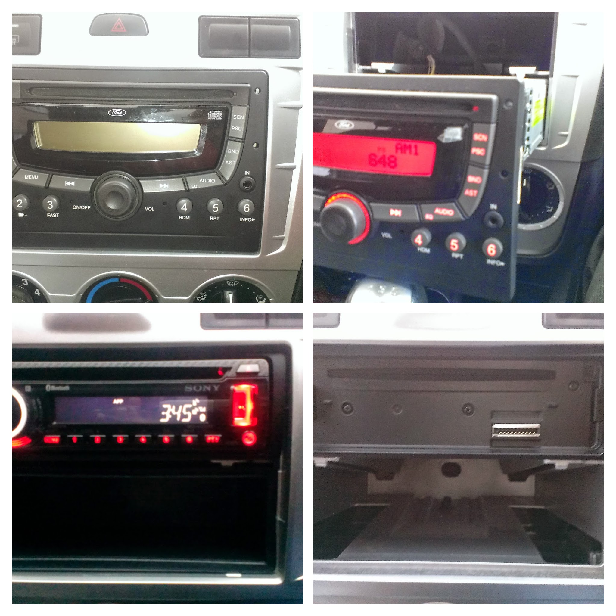 ford figo radio removal